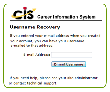 Username recovery image